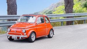 Чефалу, Тарга Флорио, Фиат 500, автомобильная гонка, автомобили ретро, автогонка в Италии, события на Сицилии